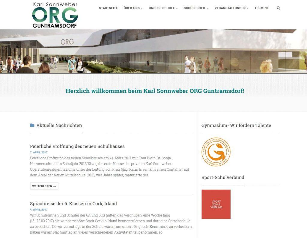 Screenshot Webseite BORG (ORG) vom 18.4.2017